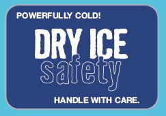 Dryice safety logo